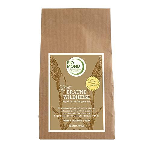 BIO Braunhirse Wildhirse BIOMOND / 1000 g / Hirse gemahlen / tagesfrisch gemahlen / Rohkostqualität