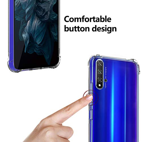 Ferilinso Hülle Kompatibel mit Huawei Nova 5T/ Honor 20, Ultra [Slim Thin] Kratzfestes TPU Gummi Weiche Haut Silikon Fall Schutzhülle für Huawei Nova 5T/ Honor 20 Hülle (Transparent) - 5