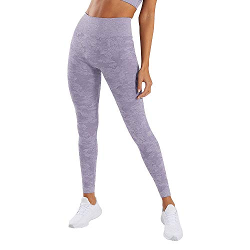 Women's High Waisted Yoga Pants Camo Active Leggings Butt Lift Power Yoga Pants Workout Tights Tummy Control