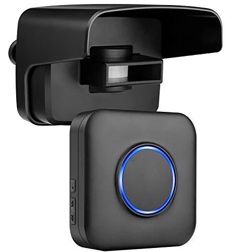 Wireless Driveway Alarm BITIWEND Driveway Motion Detector Chime with 500ft Wireless Range,Driveway...