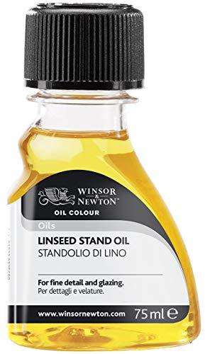 Winsor & Newton 3021749 Leinöl Standöl, verlängert die Trocknungszeit von Ölfarben, 75ml Flasche