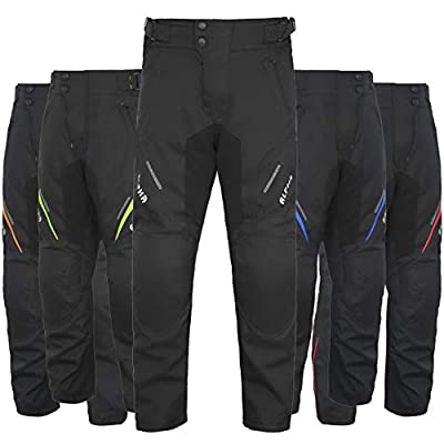 """Motorcycle Pants For Men Dualsport Motocross Motorbike Pant Riding Overpants Enduro Adventure Touring Waterproof CE Armored All-Weather (BLACK, WAIST 32""""-34"""" INSEAM 32"""") by ALPHA CYCLE GEAR"""