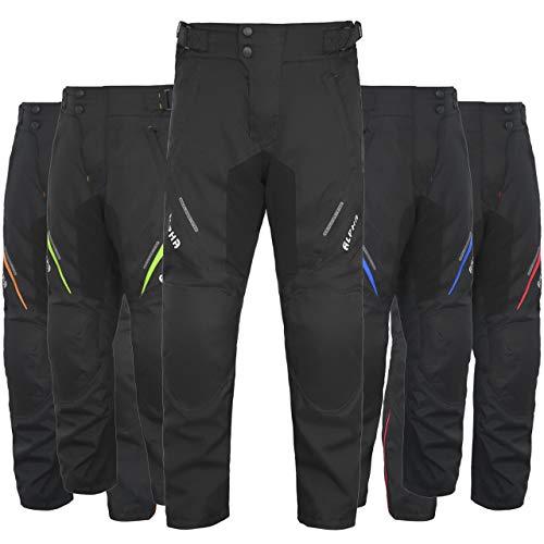 "All Season Motorcycle Pants Men Motocross Offroad Overpants Touring Adventure Dual Enduro Waterproof CE Armor (Black, Waist 32""-34"" Inseam 32"")"