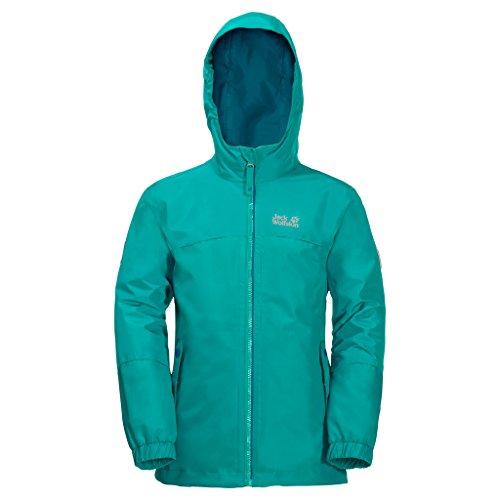 Jack Wolfskin G Iceland 3in1 JKT, water- en winddichte outdoor jas, winterjas voor meisjes met warme fleecejas, robuuste regenjas voor meisjes met reflectoren