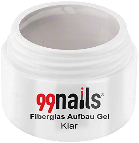 99 Nails fibre de verre structure Gel – Transparent, 1er Pack (1 x 5 ml)