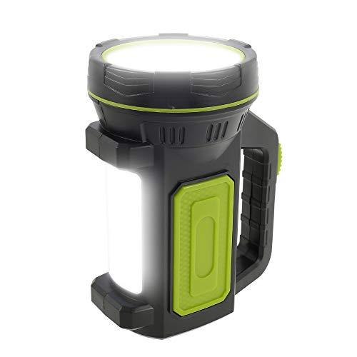 LED Handscheinwerfer 135000 Lumen Xenon-LED Wiederaufladbare Handlampe mit 6000mAh Powerbank 2 Lichtmodi 10W Dimmbare Taschenlampe Tragbar USB Arbeitsleuchte Flashlight IP65Wasserdicht