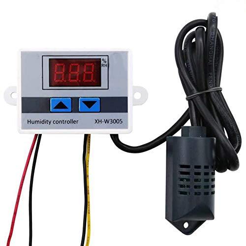 Sensor El Interruptor del Sensor de Humedad Controlador Digital 24V Humidistato higrómetro Control de Humedad del regulador del Sensor de Humedad + para el hogar, reactores, prensas hidráulicas, COC