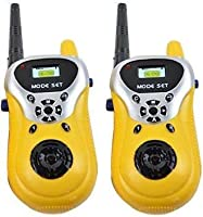 Toyshine Kids Walkie Talkie with 2 Player System Toy Interphone (Yellow)