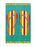 Espalma Oversized Luxury Flip Flops Sandals Beach Towel, Large...