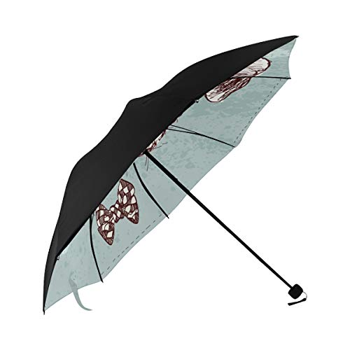 Foldable Umbrella Stroller Glasses Dog Popular Style Underside Printing Reverse Umbrella Best Sun Umbrella Windproof Umbrella Large With 95% Uv Protection For Women Men Lady Girl