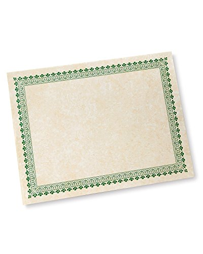 Green Border Paper Certificates - 100 CT