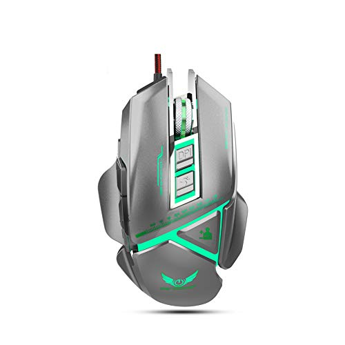 Gaming Mouse Wired, 11 Programmable Buttons,RGB Backlights, 3200 DPI Adjustable,Comfortable Grip Ergonomic Optical PC Computer Gaming MiceSilver