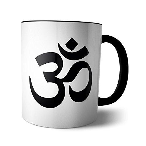 Tasse Yin Yang Buddha Peace Om Indien Spirituel Geschenk Lotus Indisch Parsley , Design:Design 3