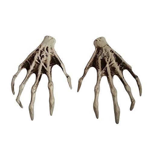 ZHI BEI Xxmk Decoración de Halloween - Esqueleto de la Mano de la Garra del Fantasma de la Bruja Garra Horror Decoración apoyos Cosplay Atrezzo Decoración de Halloween de Miedo