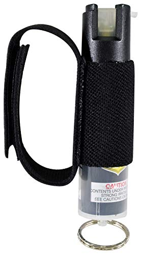 Pepper Defense OC Pepper Spray with Hand Strap for Jogging, Running, Walking, Hiking - 3/4 oz. Canister - Maximum Strength Police Grade Formula with 10% OC & Marking Dye