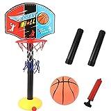 LAANCOO del Baloncesto de los niños Soporte de Bucle Puede Levantar la Bola Estante Interior para el Juego de Baloncesto al Aire Libre Familia Cubierta Juguetes