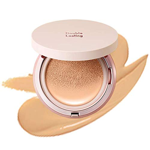 ETUDE HOUSE Double Lasting Cushion Glow #N23 Sand | 24-Hours Lasting Cushion with a Radiant Natural Finish