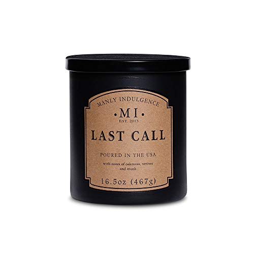 Manly Indulgence Last Call Scented Jar Candle, 16.5 Oz, Black