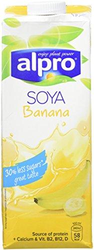 Alpro Boisson au Soja Banane 1 L - Lot de 4