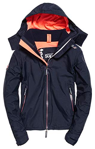 Superdry Damen Arctic Hooded Cliff Hiker Sportjacke, Blau (New Navy Marl/Coral Blush Xg2), 42 (Herstellergröße: S)
