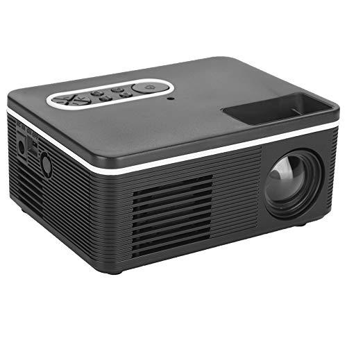 Dilwe1 Mini LED Video Projector, Multifunctional Home Theater Home Projector, HD Portable Home Projector Support 1080P, Mobile Projector Video Player, Best Gift(US)