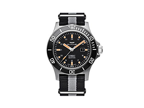 Glycine Combat Sub Automatik Uhr, GL 224, Schwarz, 48mm, GL0097