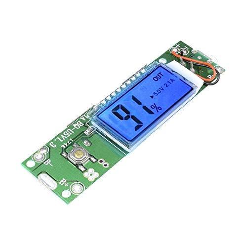 ZTSHBK Módulo de Cargador de Banco de energía móvil Doble Doble USB Pantalla LCD Digital 18650 Tablero de Carga de batería de Litio para teléfono 5V 1A 2A