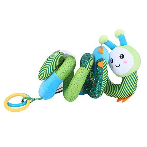 Bebé espiral Wrap cuna colgante juguete bebé cochecito de bebé dibujos animados juguete de peluche con sonajero (abejas colgantes juguetes)