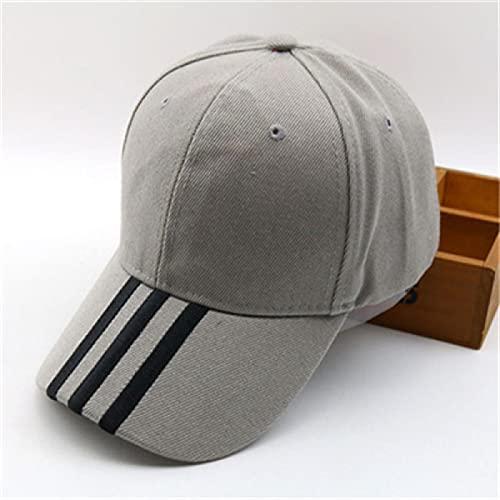 sombreroGorra de Beisbol Gorras para Hombre Gorro Hombres Mujeres Gorra Ajustable a Rayas Aleros Planos Sombreros curvos Gorras de béisbol SnapbackHat 3