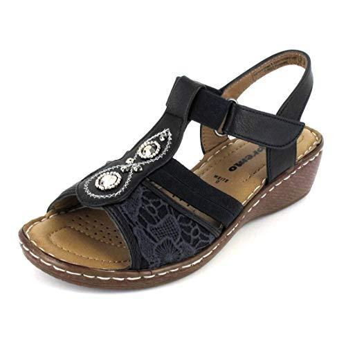 Supremo Sandale Größe 39, Farbe: blau