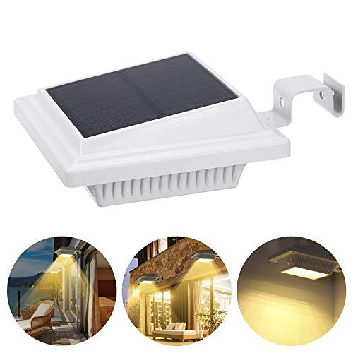 Lixada Wall Street Light op zonne-energie, IP65, waterdicht, draadloze buitenverlichting op zonne-energie, voor binnenplaats, oprit, oprit, zwembad, terras