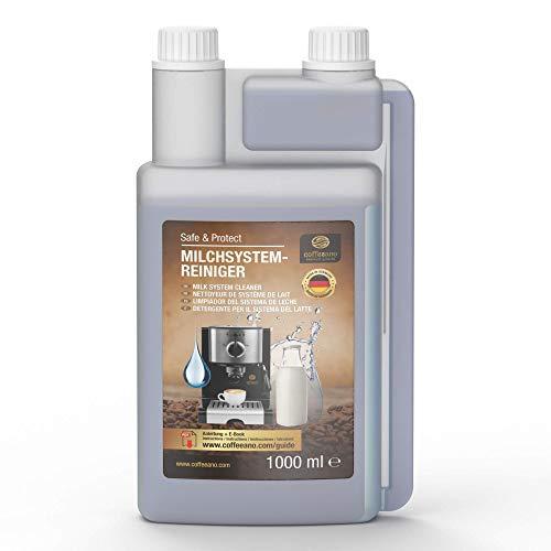 Coffeeano Milchsystemreiniger 1000ml Dosierflasche für Kaffeevollautomaten und Kaffeemaschinen   Inkl. gratis eBook