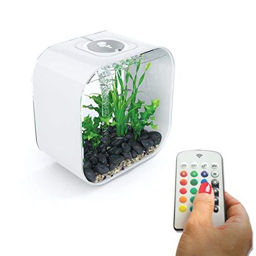BiOrb Life 30Litre White Aquarium Fish Tank with Multi Colour LED Lighting