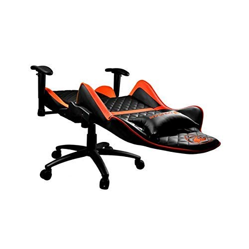 COUGAR Gaming Armor One Poltrona gaming, Finta Pelle, Nero/Arancione, Medio