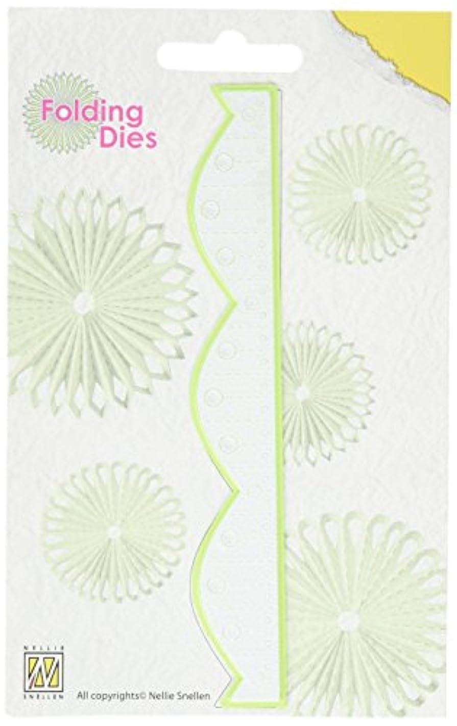 Nellie's Choice NFD012 Rosetta Folding Die, Flower 4