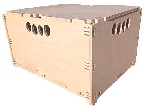 Unbekannt Kallax passend Hochbelastbar Werkzeugbox aus Holz Holzkiste Naturbelassen 40x30x32cm 30 Liter mit Deckel Aufbewahrungsbox