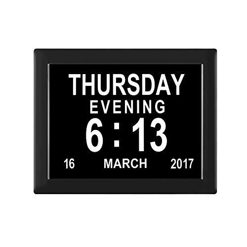 WXLAA Reloj de escritorio digital despertador LED electrónico con calendario temperatura humedad para casa
