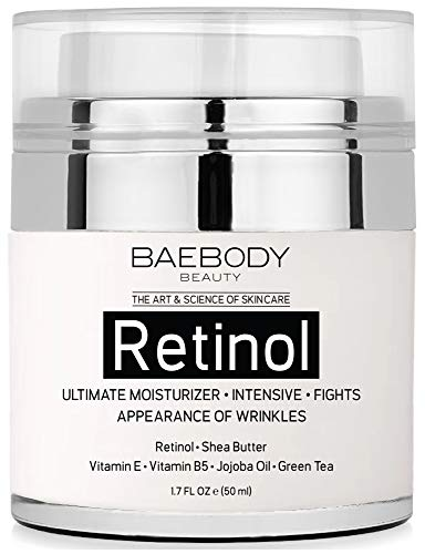 Baebody Retinol Moisturizer Cream with Retinol, Jojoba Oil & Vitamin E