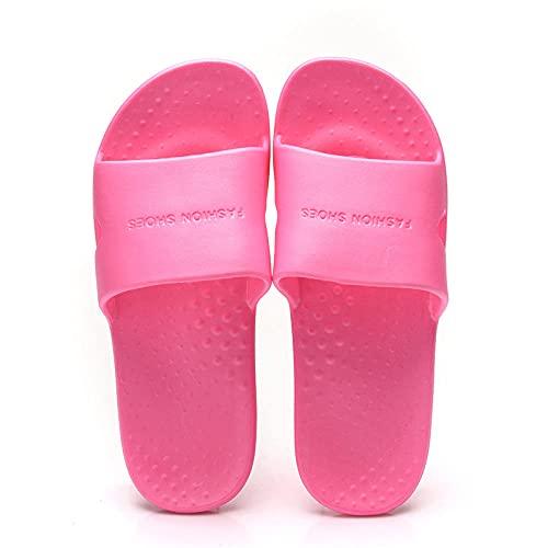 ZZLHHD Ciabatte per Massaggio ai Piedi,Home Non-Slip Slippers Female, Soft Bottom Foot Massage Slippers-Rose Red_38 39,Sandali per Massaggio con Digitopressione