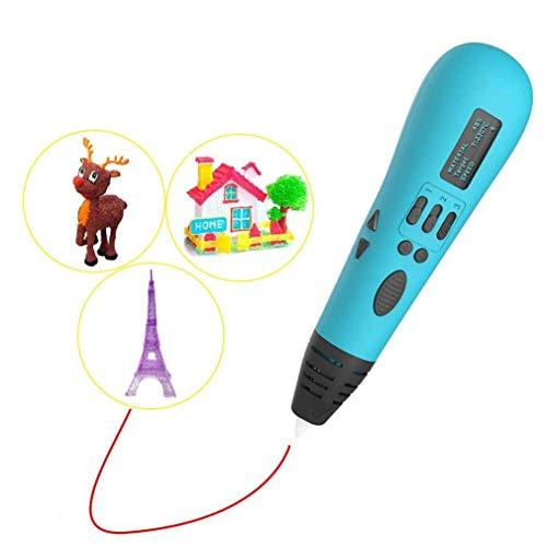 NMDD avec écran LCD stylos 3D sûrs et faciles à Utiliser pour Les Enfants Adultes, Stylo de Dessin 3D avec 3 Couleurs de Recharge de Filament PLA Stylo d'impression 3D