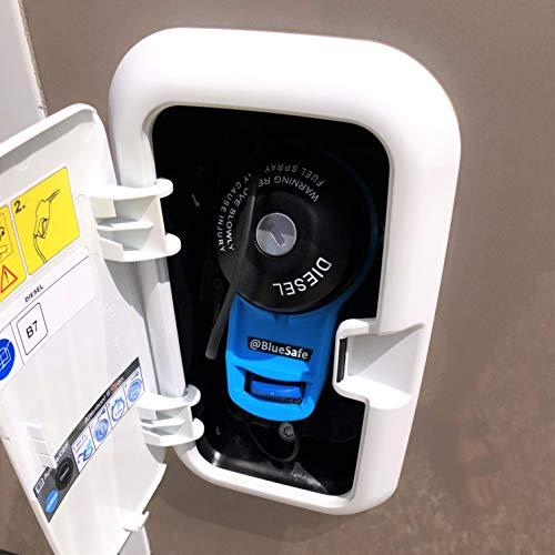 AdBlue Deckel Sicherung Tanksicherung für Tankverschluss Tankdeckel (Typ Tankklappe B, Blau)