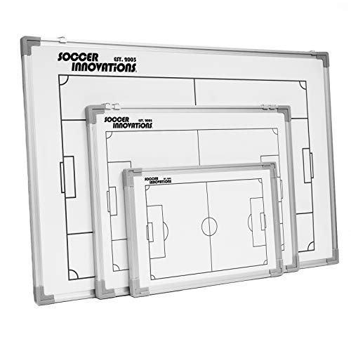 Soccer Innovations Deluxe Coaches Tactic Board Kit, White, 23-Inches by 17-Inches