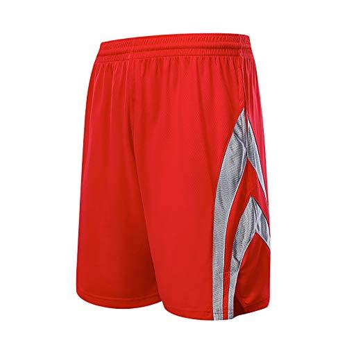 NIUPUPU Pantalones Cortos de Baloncesto para Hombre de la NBA Houston Rockets Pantalones Cortos para Correr Deportivos Pantalones Cortos de Entrenamiento para Gimnasio Ropa Informal XXS-5XL