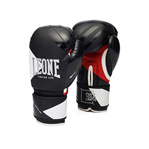 LEONE 1947 Fighter Life, Guantes Unisex Adulto, Unisex Adulto, GN307, Negro, 10 onzas