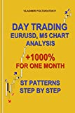 Day Trading EUR/USD, M5 Chart Analysis +1000% for One Month ST Patterns Step by Step (Forex, Forex trading, Forex Strategy, Futures Trading, Band 4) - Vladimir Poltoratskiy