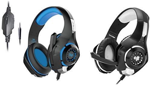 Kotion Each GS410 Headphones with Mic and for PS4, Xbox One, Laptop, PC, iPhone and Android Phones&Cosmic Byte GS410 Headphones with Mic and for PS4, Xbox One, Laptop, PC, iPhone and Android Phones