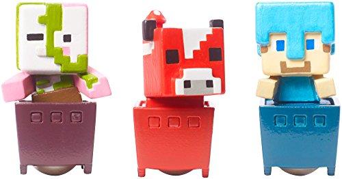 Minecraft Zombie Pigman, Diamond Steve, Mooshroom Figure Set Standard