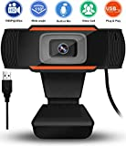Auto Focus 1080p Webcam with Microphone Noise Reduction HD USB Web Camera for Online Class Teaching Zoom...