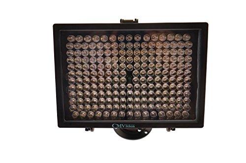 CMVision-IR200-198 (850nm) IR LED Night Indoor/Outdoor Long Range 300ft IR Illuminator w/Free 12V Power Adapter (Up & Down Position Adjustment only) 45 Degree Spot IR Light