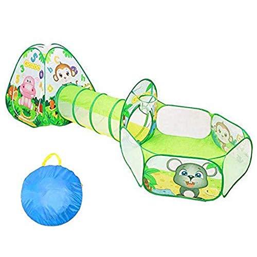 ZLZNX Tiendas de Campaña para Niños Pop Up Infantiles Tiendas de Campaña Plegable Tienda de Juegos con Túnel y Piscina de Bolas para Interior y Exteriores